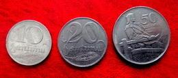 LATVIA , LETTLAND , LETTONIA 10,20,50 SANTIMU 1922 COIN SET - Lettonia
