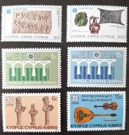 CHYPRE   Europa 1983, 1984 Et 1985   N° Y&T  577, 578, 606, 607, 637 Et 638  ** - Unused Stamps