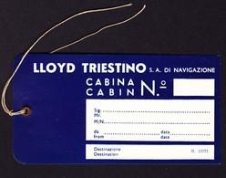 Um 1920 Kofferetikette Für Schiffsreise. Lloyd Triestino. Ungebraucht - Autres