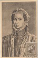 Carte Maximum BELGIQUE  N°Yvert 575 (MARGUERITE De PARME)  (timbre Collé Sur Carte) (Tableau D'Antonio Moro) - Maximumkarten (MC)