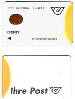 Forerunner / Test / Trial GSM SIM Carte Avec Puce Fixe (ISO Typ)___PTT Austria E-Netz White___with Number___RRR - Autriche