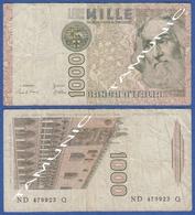 ITALY ITALIA 1000 Lire 1982 A MARCO POLO And DOGE'S PALACE IN VENICE (Venezia) DECRETO 6 GENNAIO 1982 - 1000 Lire
