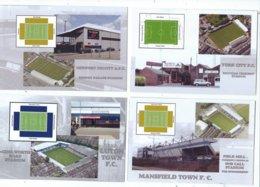 4 POSTCARD OF UK  FOOTBALL LEAGUE STADIUMS  LOT   THIRTEEN - Stadiums