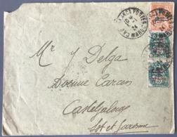 Maroc N°40 (x2) Et 42 Sur Lettre - TAD CASABLANCA POSTES MAROC 1924 - (W1582) - Lettres & Documents