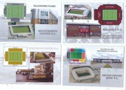 4 POSTCARD OF UK  FOOTBALL LEAGUE STADIUMS  LOT   FOURTEEN - Stadiums