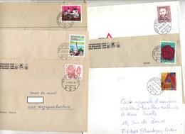 Lot 36 Lettres Cachet Sur Affranchissement à Voir - Postmark Collection