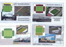 4 POSTCARD OF UK  FOOTBALL LEAGUE STADIUMS  LOT   FIFTEEN - Stadiums