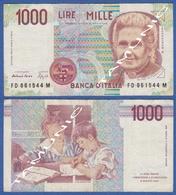 ITALY ITALIA 1000 Lire 1990 B M.MONTESSORI And PUPILS DECRETO 3 OTTOBRE 1990 - 1000 Lire