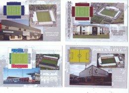 4 POSTCARD OF UK  FOOTBALL LEAGUE STADIUMS  LOT   SIXTEEN - Stadiums