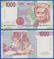 ITALY ITALIA 1000 Lire 1990 C M.MONTESSORI And PUPILS DECRETO 3 OTTOBRE 1990 - 1000 Lire