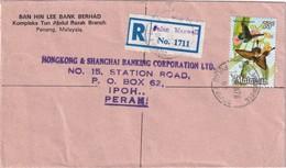 MALAISIE 1978 LETTRE RECOMMANDEE DE PENANG  THEME PAPILLONS - Malaysia (1964-...)