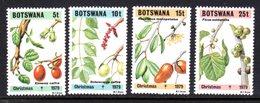 BOTSWANA - 1979 CHRISTMAS FLOWERS SET (4V) GOOD MOUNTED MINT MM * SG 454-457 - Botswana (1966-...)