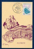 France - Carte Maximum - Fluorite - Nature De France - Minéraux - 1986 - Cartes-Maximum