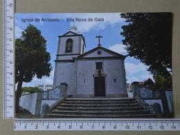 PORTUGAL - IGREJA DE ARCOZELO -  VILA NOVA DE GAIA -   2 SCANS     - (Nº35650) - Porto