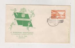YUGOSLAVIA,1960 ZAGREB TABLE TENNIS Nice Cover - 1945-1992 Sozialistische Föderative Republik Jugoslawien