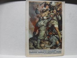 FRANCHIGIA   II  GUERRA  --  ILL.  GINO BOCCASILE      DUE SONO CADUTI  GLI ALTRI NON TARDERANNO  -- C.G.E. - War 1939-45