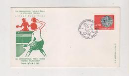 YUGOSLAVIA,1967 ZAGREB TABLE TENNIS Nice Cover - 1945-1992 Sozialistische Föderative Republik Jugoslawien