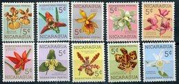 NICARAGUA 1962 N° YVERT 859/868 ** ORCHIDEES - Orquídeas. 1962  FLEURS  NEUF LUXE MNH ** - Orchideeën