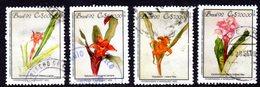 BRAZIL - 1992 FLOWER PAINTINGS SET (4V) GOOD USED SG 2543-2546 - Botswana (1966-...)