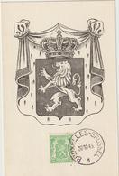 Carte Maximum BELGIQUE N°Yvert 712 (ARMOIRIES) Obl Bruxelles 1945 - Maximumkarten (MC)