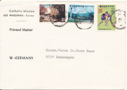 Korea South Cover Sent To Germany 1-10-1972 Topic Stamps - Korea (Süd-)