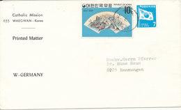 Korea South Cover Sent To Germany - Korea (Süd-)
