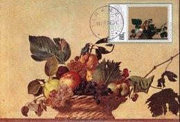 54710 Albania, Maximum 1974 Painting Of  Caravaggio,corbeille De Fruits,fruit Basket, - Other