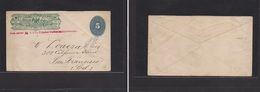 Mexico - Cover - C.1897 Wells Fargo Rep Mex Large Numeral Stat Env To USA San Francisco Oval Cachet. Easy Deal. - Mexique
