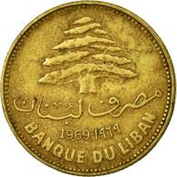 Monnaie, Lebanon, 25 Piastres, 1969, TTB, Nickel-brass, KM:27.1 - Lebanon