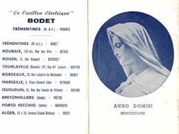 Calendrier 1958 Anno Domini MDCCCCLVIII - Le Carillon électrique Bodet - Calendriers