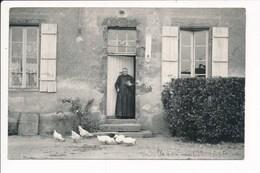 Carte Photo ( Curé / Presbytère ) à Identifier 71 Saône Et Loire  ( Envoyée à Monseigneur  Pour Son Modeste Cheptel - Autres Communes