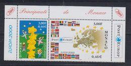 Europa Cept 2000 Monaco 2v (top Margin) ** Mnh (47743A) - 2000