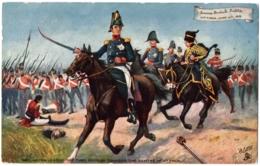 "CPA Militaria - TUCK And Son ""Oilette"" - 9135. Famous British Battle, VITTORIA 1813. Wellington Leading The 3rd Division - Militaria"