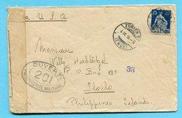 Zensurbrief Von Zürich Nach Iloilo (Philippinen) 1918 - Suiza
