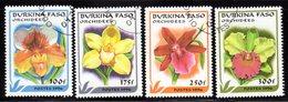 BURKINA FASO - 1996 ORCHIDS SET (4V) FINE USED CTO SG 1160-1163 - Burkina Faso (1984-...)