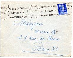 RHONE - Dépt N° 69 = VILLEURBANNE CHARPENNES 1958 = FLAMME KRAG ' LOTERIE NATIONALE / Tentez La CHANCE ' - Marcophilie (Lettres)