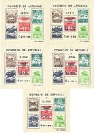 Guerra Civil 5 Hojitas Guerra Civil Consejo Asturias Y Leon Serie Completa - Vignette Della Guerra Civile