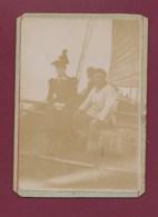 210520 - PHOTO ANCIENNE - 80 LE CROTOY à Bord Du Bateau Faisant La Traversée De St Valéry Au Crotoy - Marin - Le Crotoy