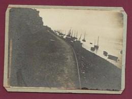 210520 - PHOTO ANCIENNE - 80 SAINT VALERY SUR SOMME La Baie De La Somme - Bateau Voilier - Saint Valery Sur Somme