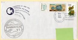 Polaire. Dutch Participation + Signature + German Antarctic Expedition. Ganovex VI 1990/91. Timbres Et Oblitération USA. - Research Programs