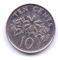 SINGAPORE 2011: 10 Cents, KM 100 - Singapour