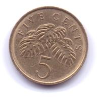SINGAPORE 2009: 5 Cents, KM 99 - Singapour