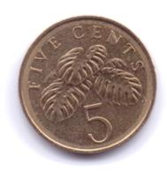 SINGAPORE 2007: 5 Cents, KM 99 - Singapore