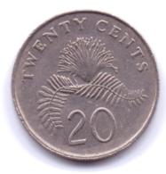 SINGAPORE 1990: 20 Cents, KM 52 - Singapore