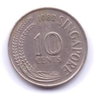 SINGAPORE 1982: 10 Cents, KM 3 - Singapore