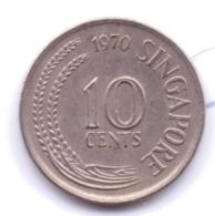 SINGAPORE 1970: 10 Cents, KM 3 - Singapore