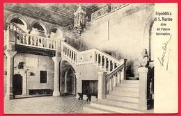 CPA Cartolina Postale Repubblica Di S. MARINO : Atrio Palazzo Governativo ° Edizione Bazar Emporio Rimini * San - San Marino