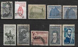 1941-2 Argentina Escudo-toro-banco Nacion-personajes-correo Y Telecomunicaciones(telegrafo) 10v. - Argentina