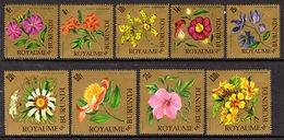 BURUNDI - 1966 AIR FLOWERS SET (9V) GOOD MOUNTED MINT MM * SG 210-218 - 1962-69: Neufs