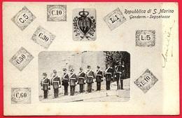 CPA Cartolina Postale Repubblica Di S. MARINO : Gendarm. Segnatasse ° Edizione Bazar Emporio Rimini * San Gendarme - San Marino